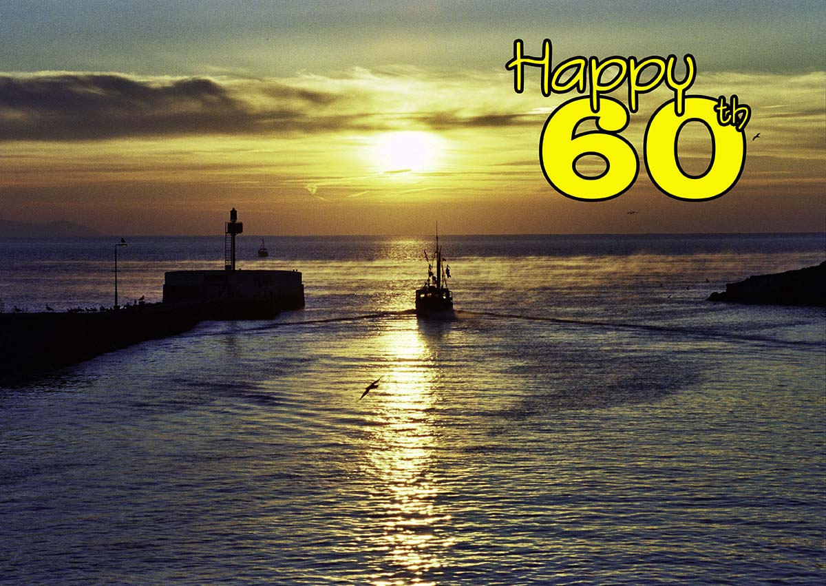 60th birthday card with boats