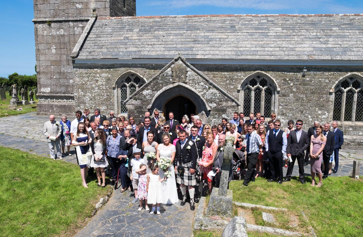 Group photo outside St Endellion Church