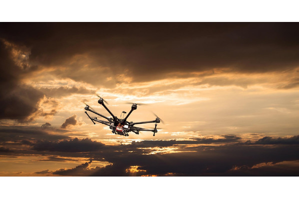 Drone at sunset image