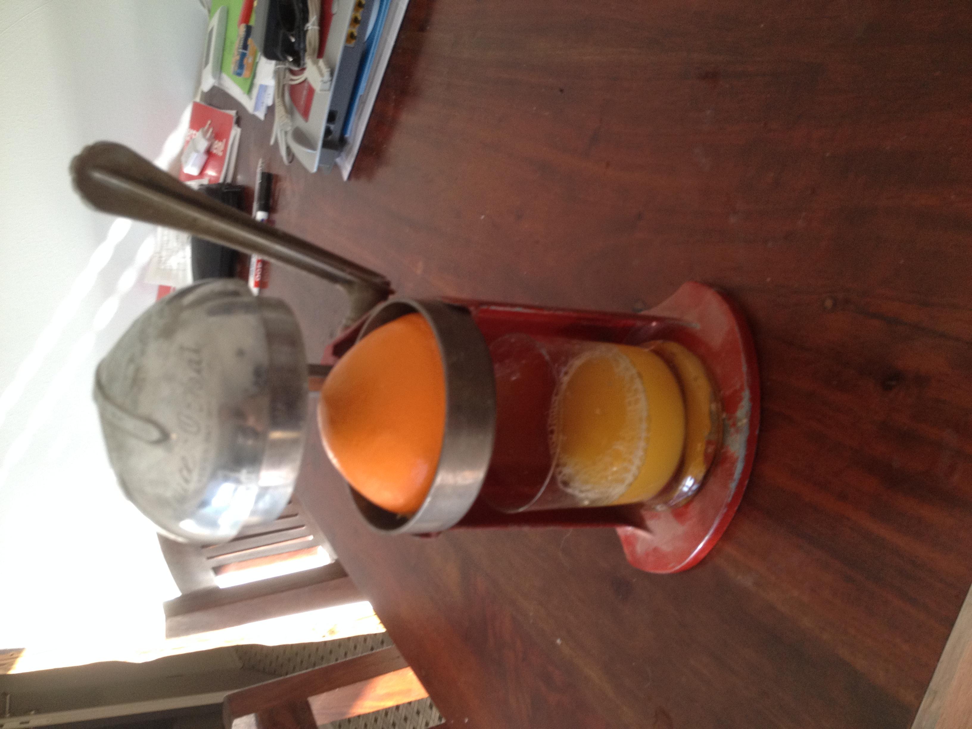 original vintage zitruspresse orangensaftpresse
