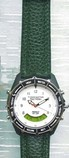 Tacticel Watch with Green Leather strap