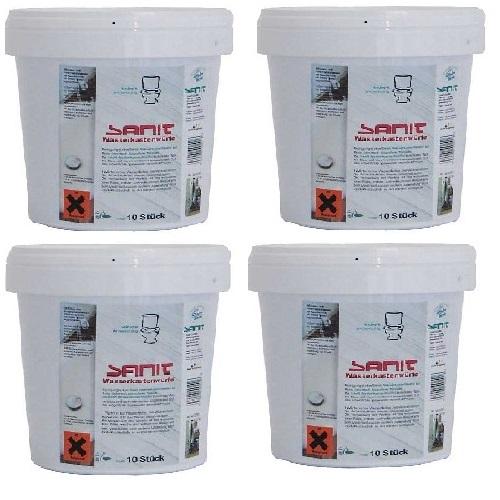 Sanit Reinigungstabs 4 Eimer mit je 10 Stück  inkl. MwSt. und Versand