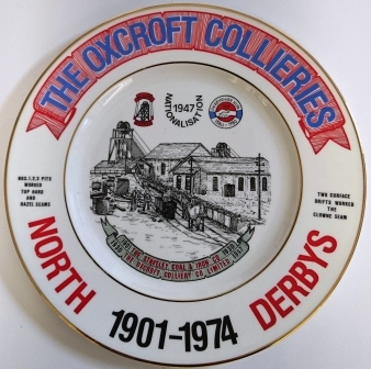 The Oxcroft Collieries plate