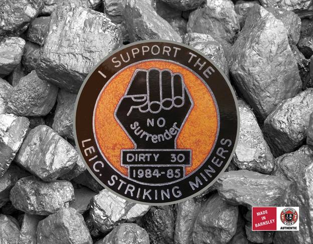 I Support Leic. Striking Miners badge