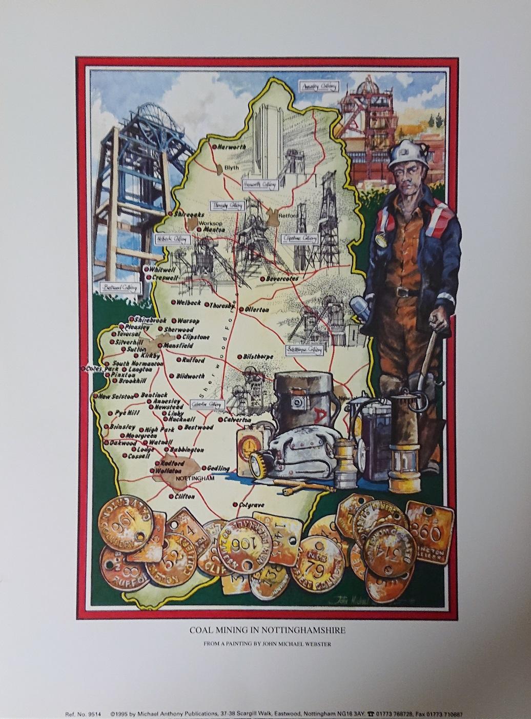 Coal Mining in Nottinghamshire Print