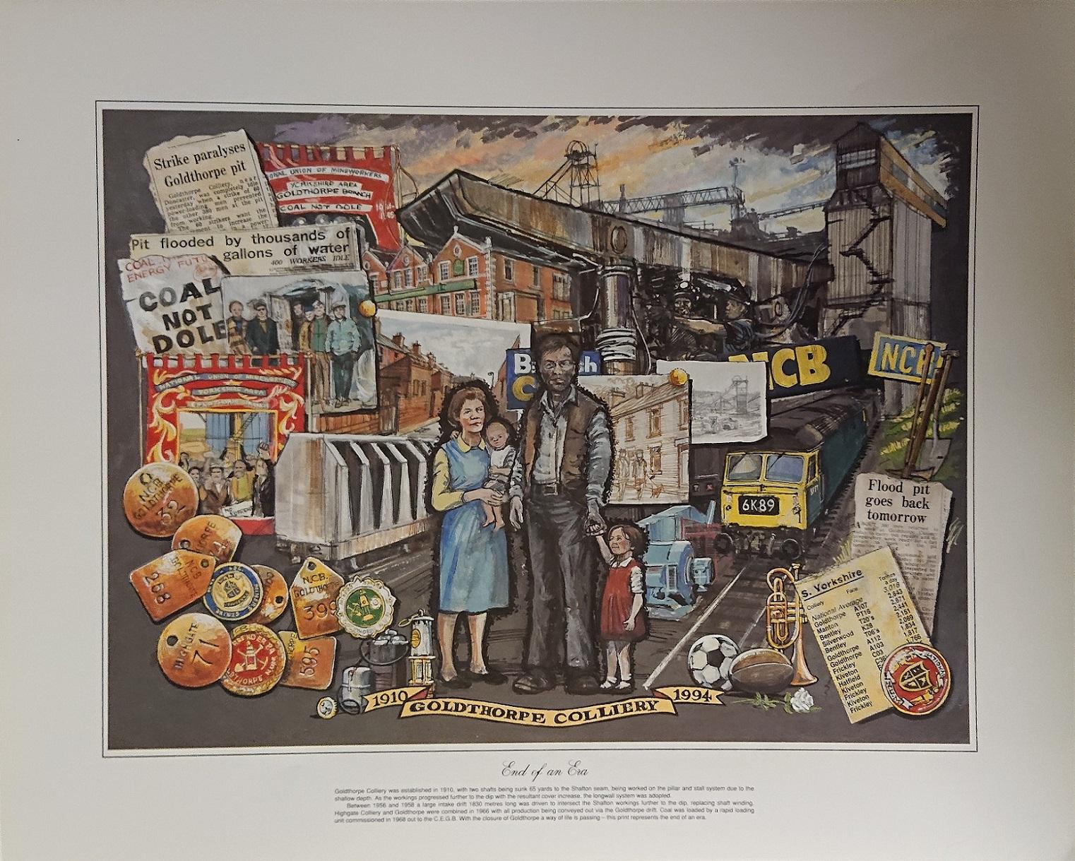 1910 - 1994 Goldthorpe Print