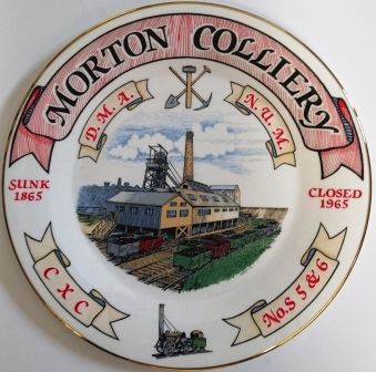 Morton Colliery plate