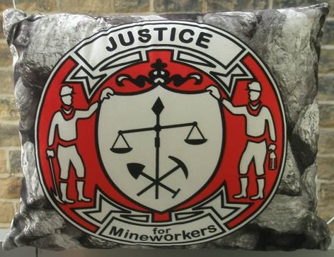 Justice for Mineworkers badge