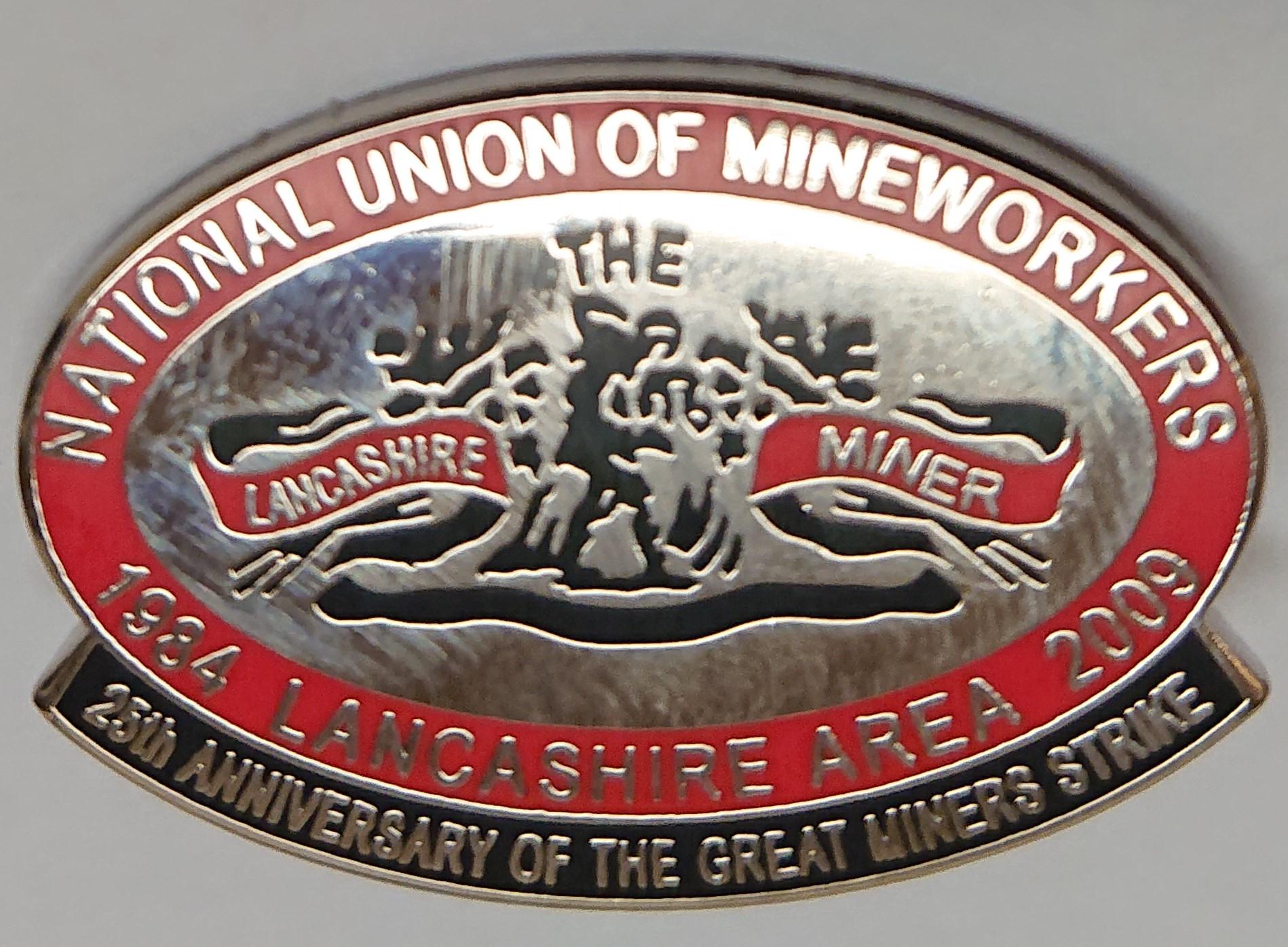 Lancs Miner Badge