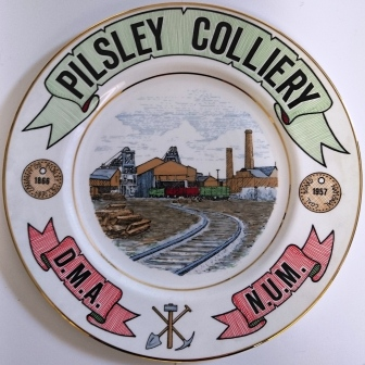 Pilsley Colliery plate