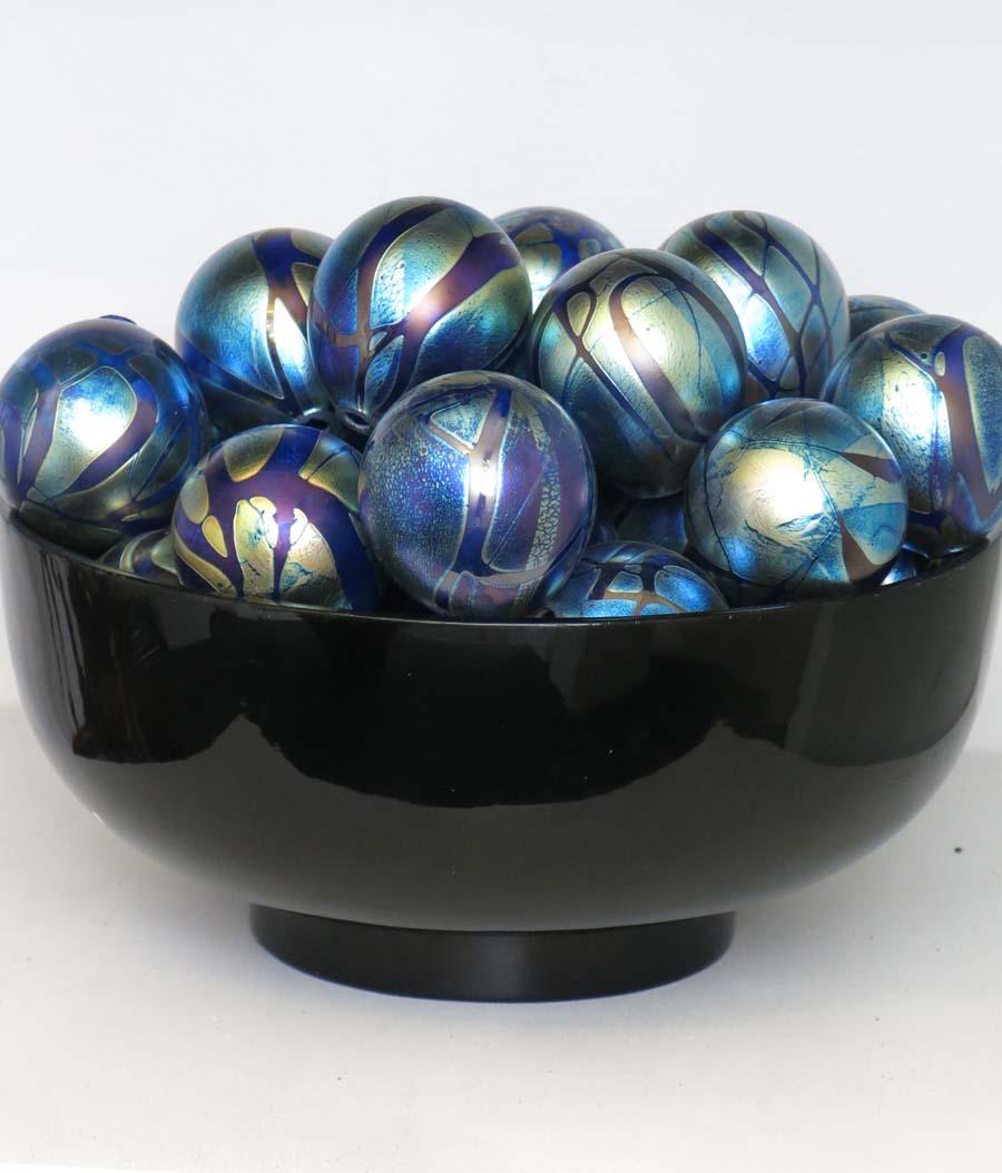 Peacock Glass Sphere