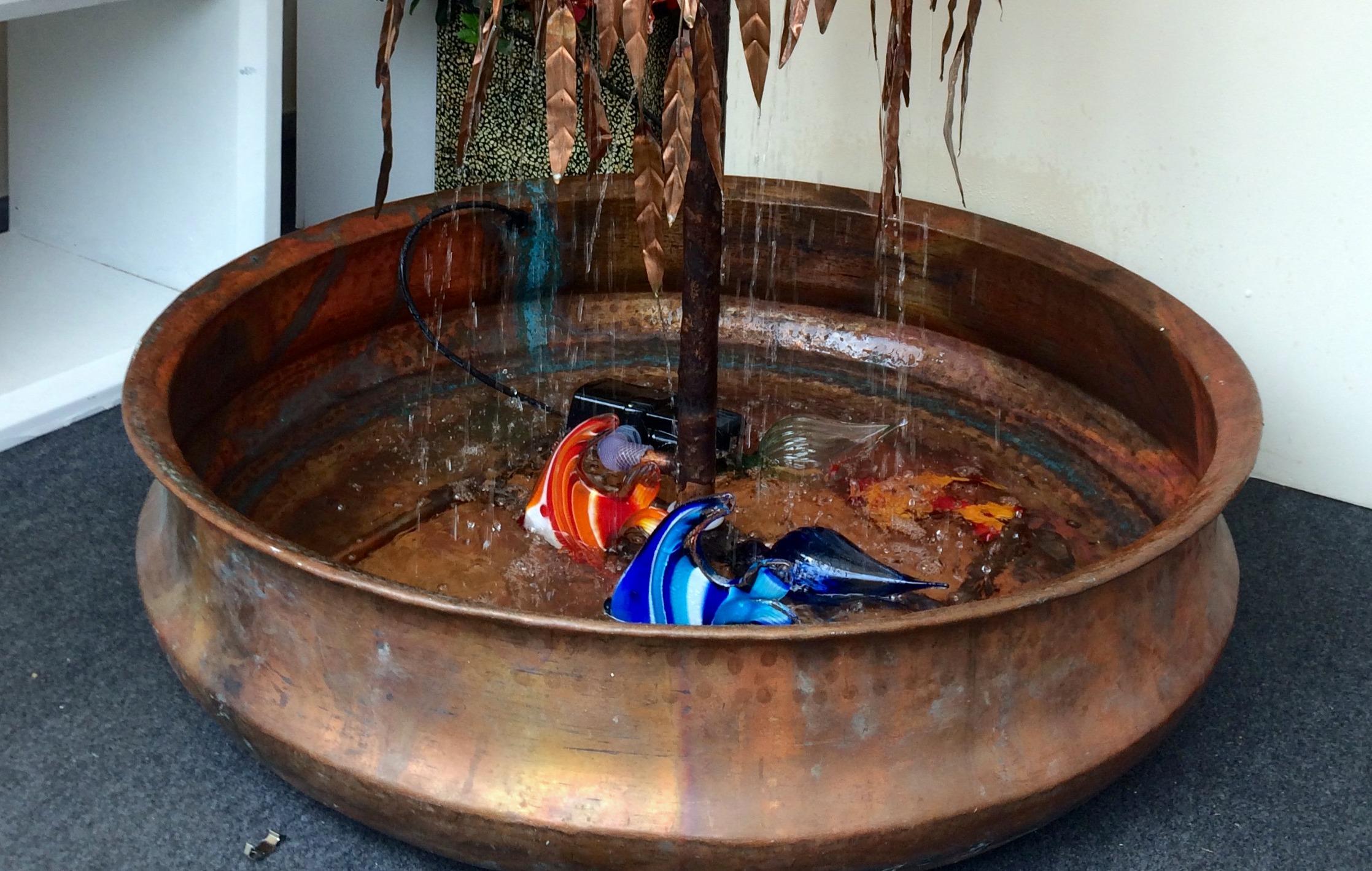 Hand Beaten Solid Copper Pond 100 cm