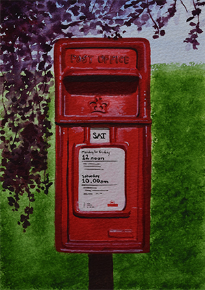 Royal Mail Postbox in Gifford