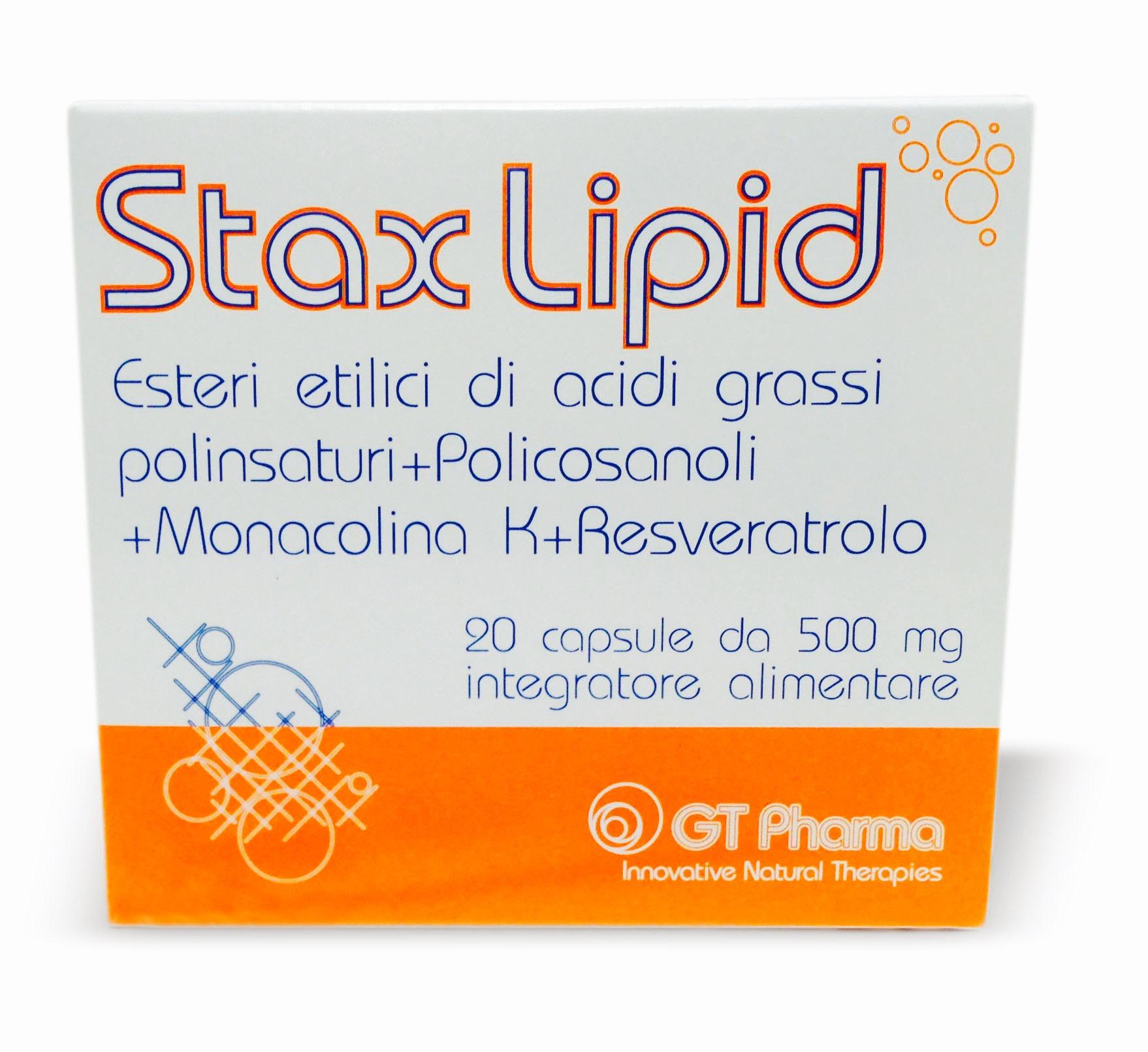 Stax Lipid 20 capsule da 500 mg