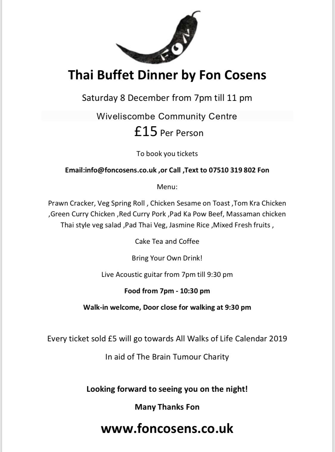 Thai Buffet dinner