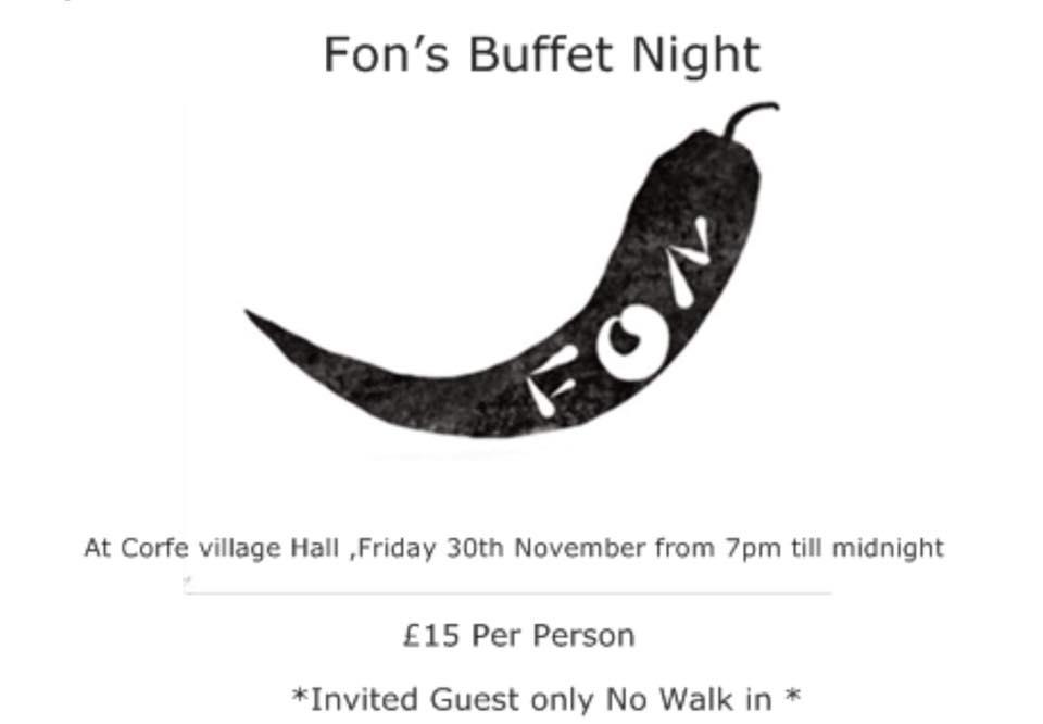 Fon's Buffet dinner
