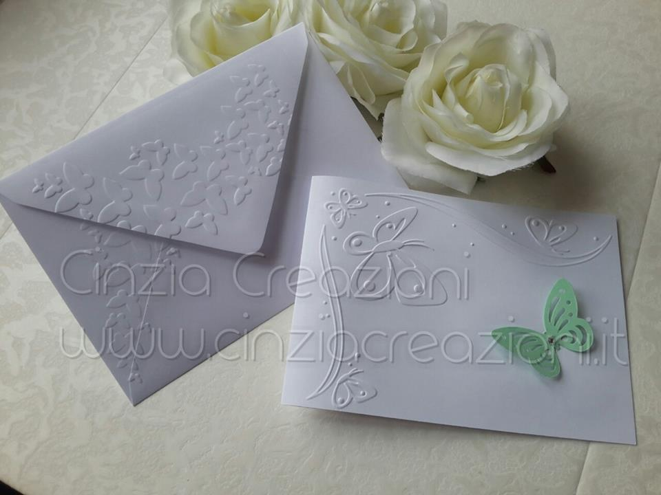 Populaire Busta personalizzata con rilievo farfalle per invito nozze UH08