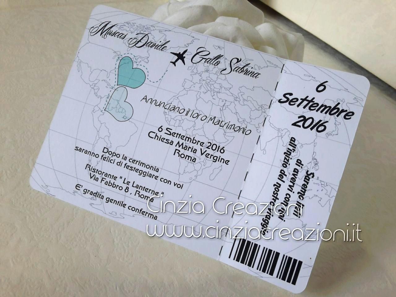 Matrimonio Tema Viaggio Frasi : Partecipazione biglietto aereo tema viaggio novità