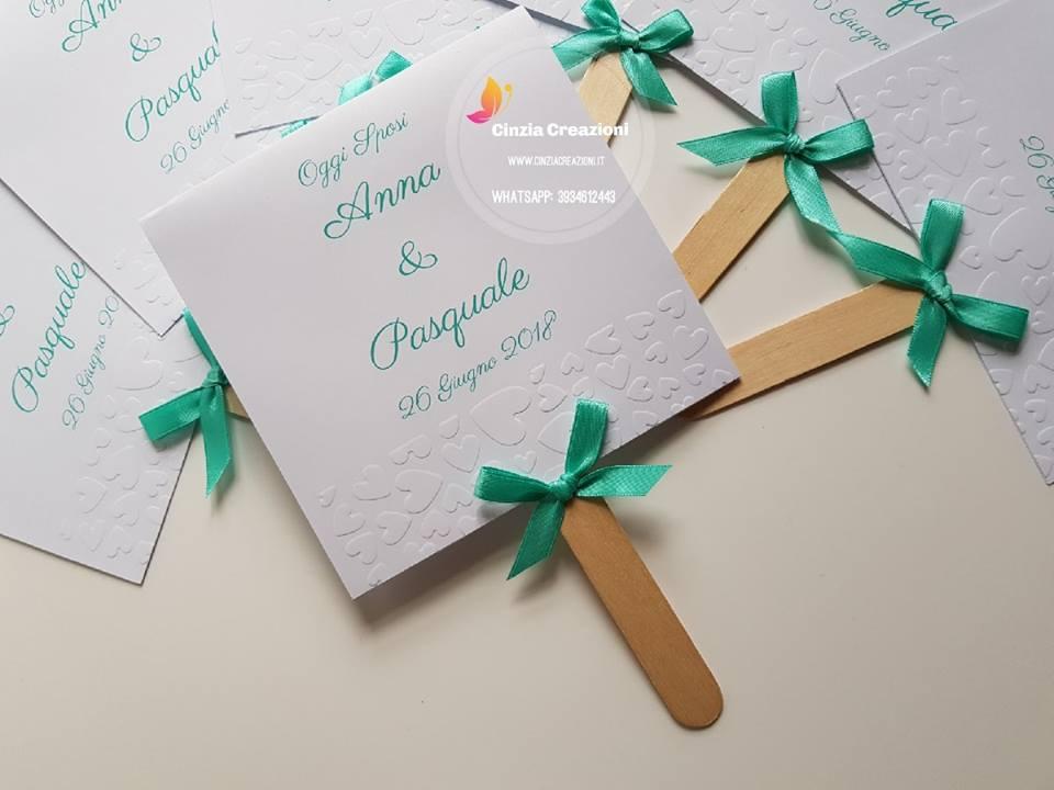 Ventagli Matrimonio Carta