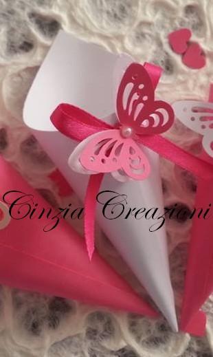 Matrimonio Tema Farfalla : Cono porta riso matrimonio farfalla