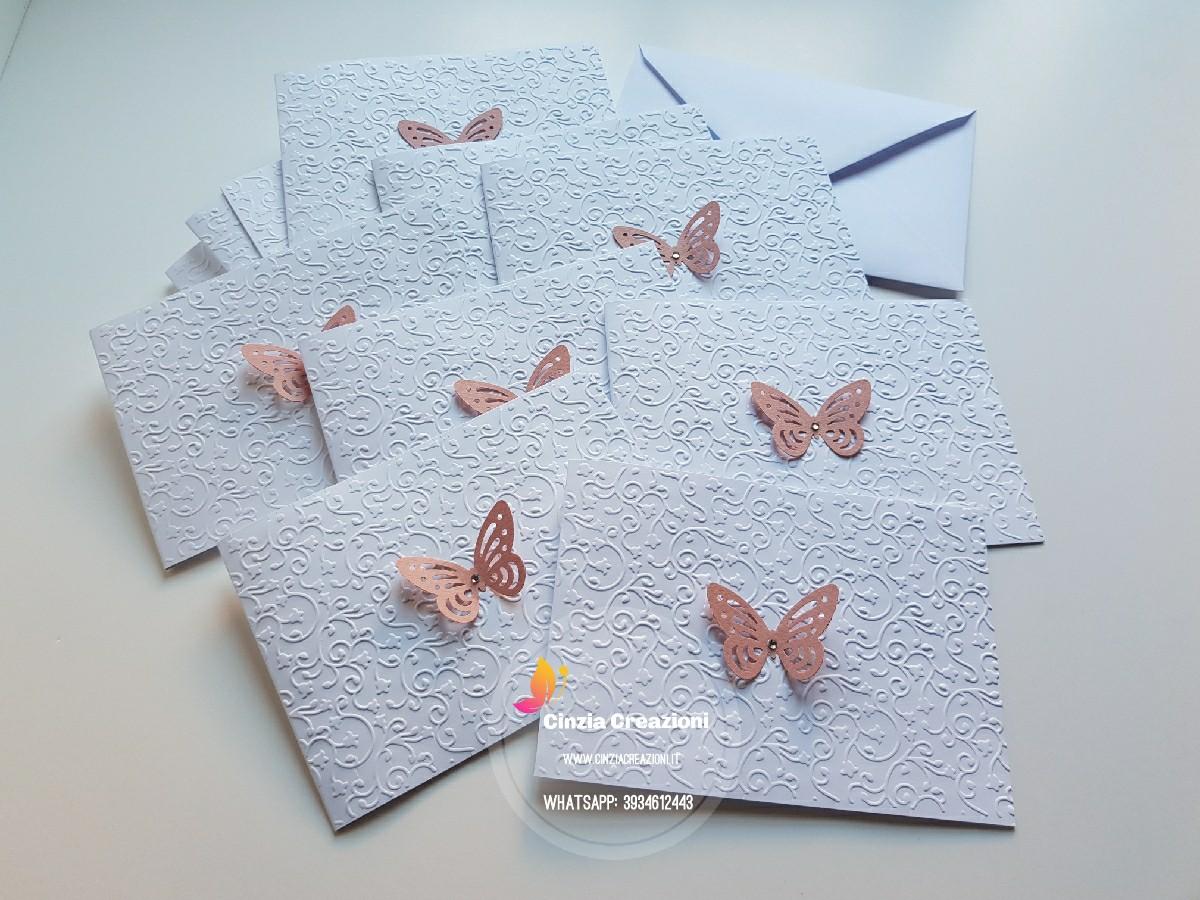 Partecipazioni Farfalla rilievo pieno