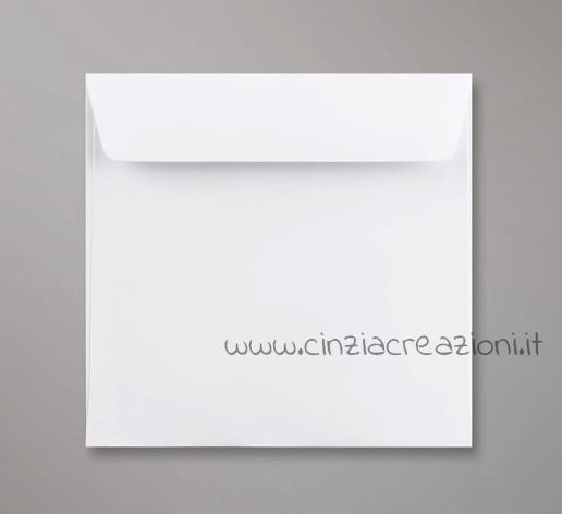 Busta Quadrata bianca 6