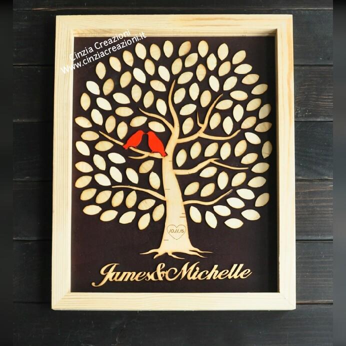 Guestbook Albero Legno