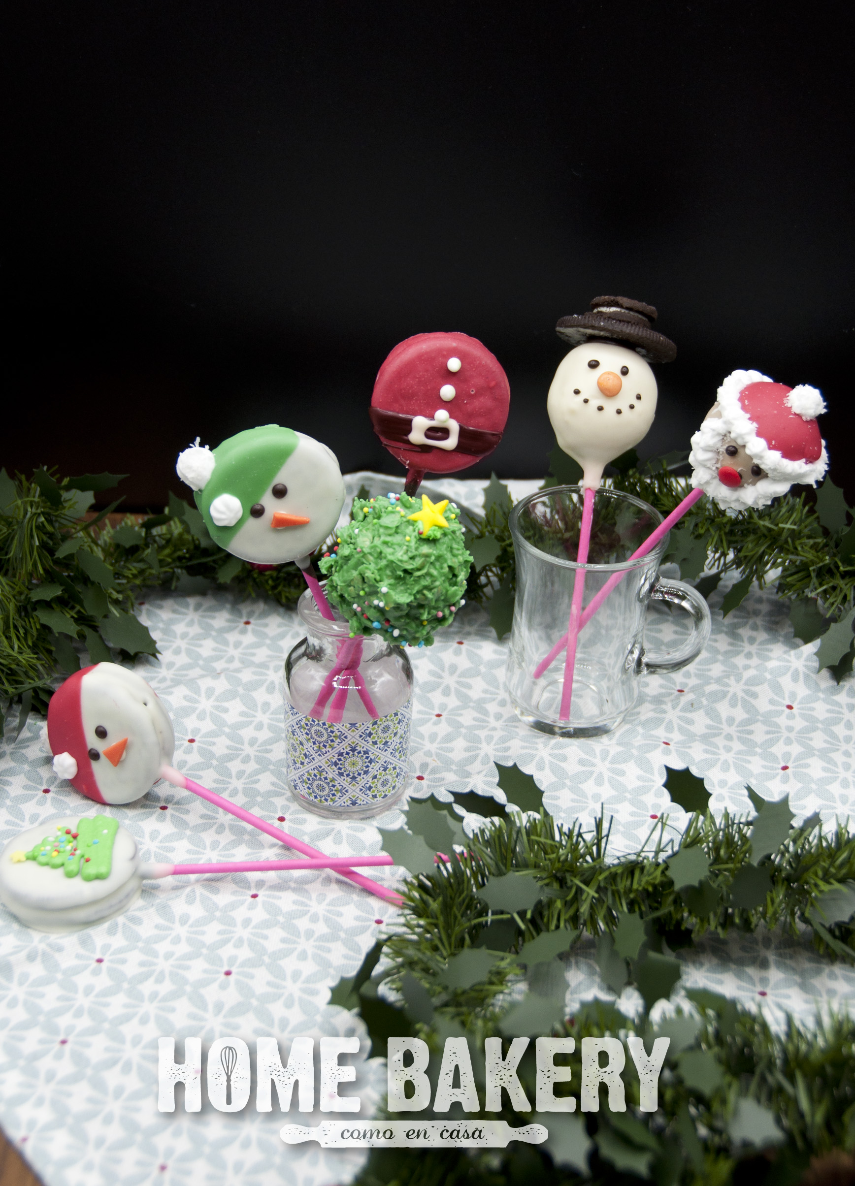 Cake-pops de Navidad