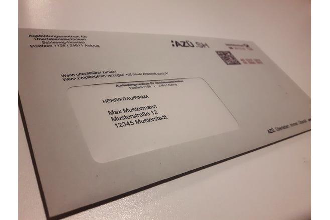 Brief AZÜ.SH Nachhaltigkeit
