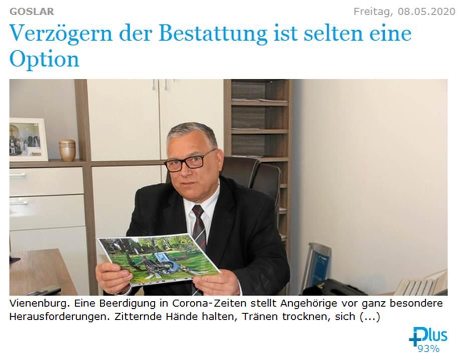 Artikel Goslarsche Zeitung