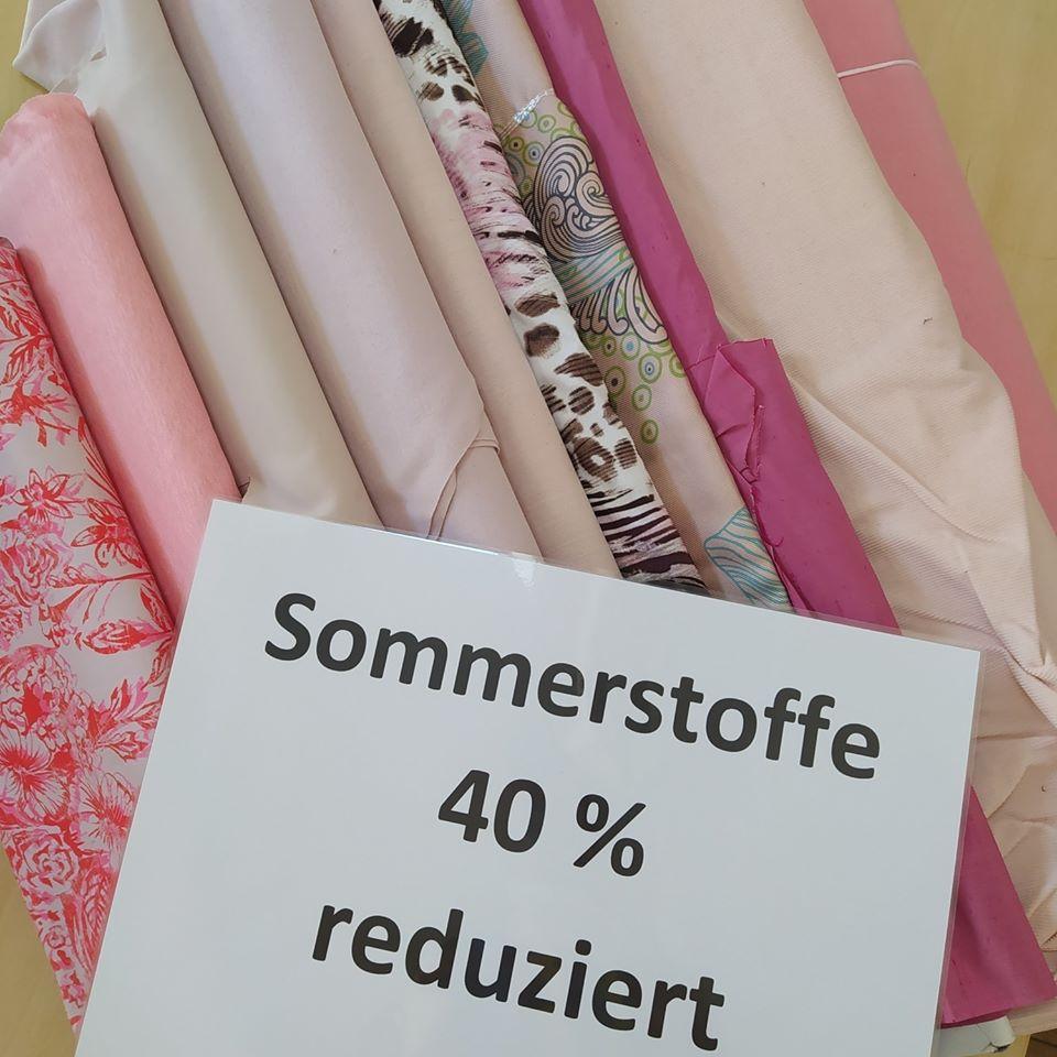 Sommerstoffe 40% reduziert