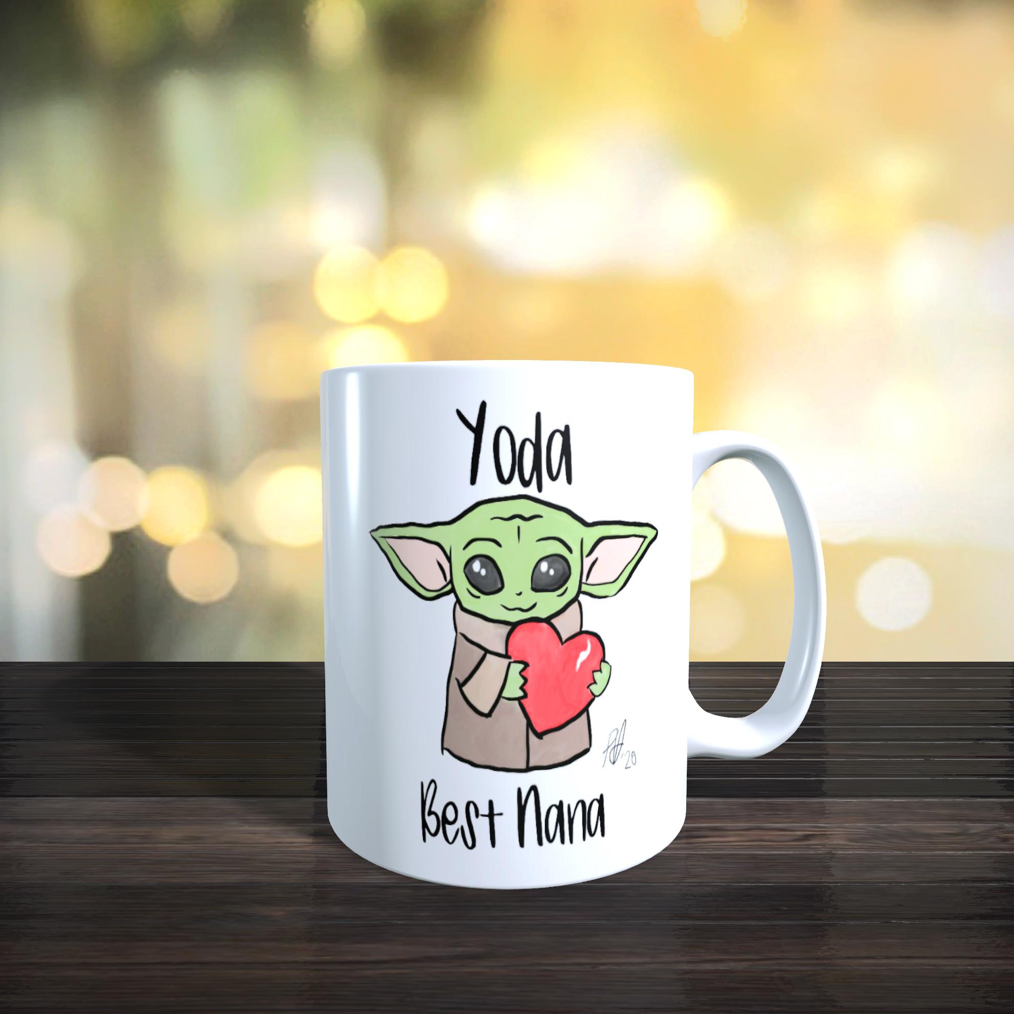 11 oz Ceramic Mug 'Yoda Best Nana' Mothers day, Birthday Gift