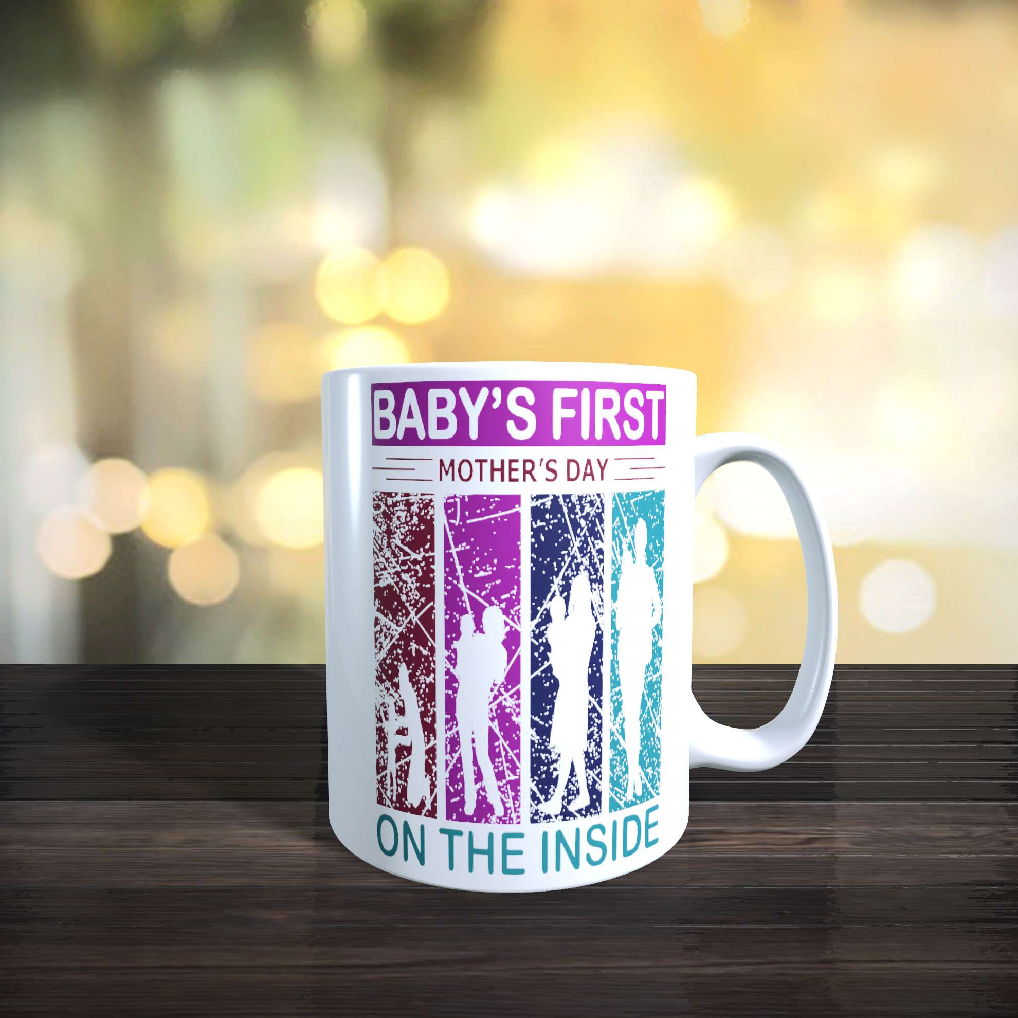 Cute Unborn Baby's First Mothers Day 11oz Ceramic First Mothers Day Gift Mug.