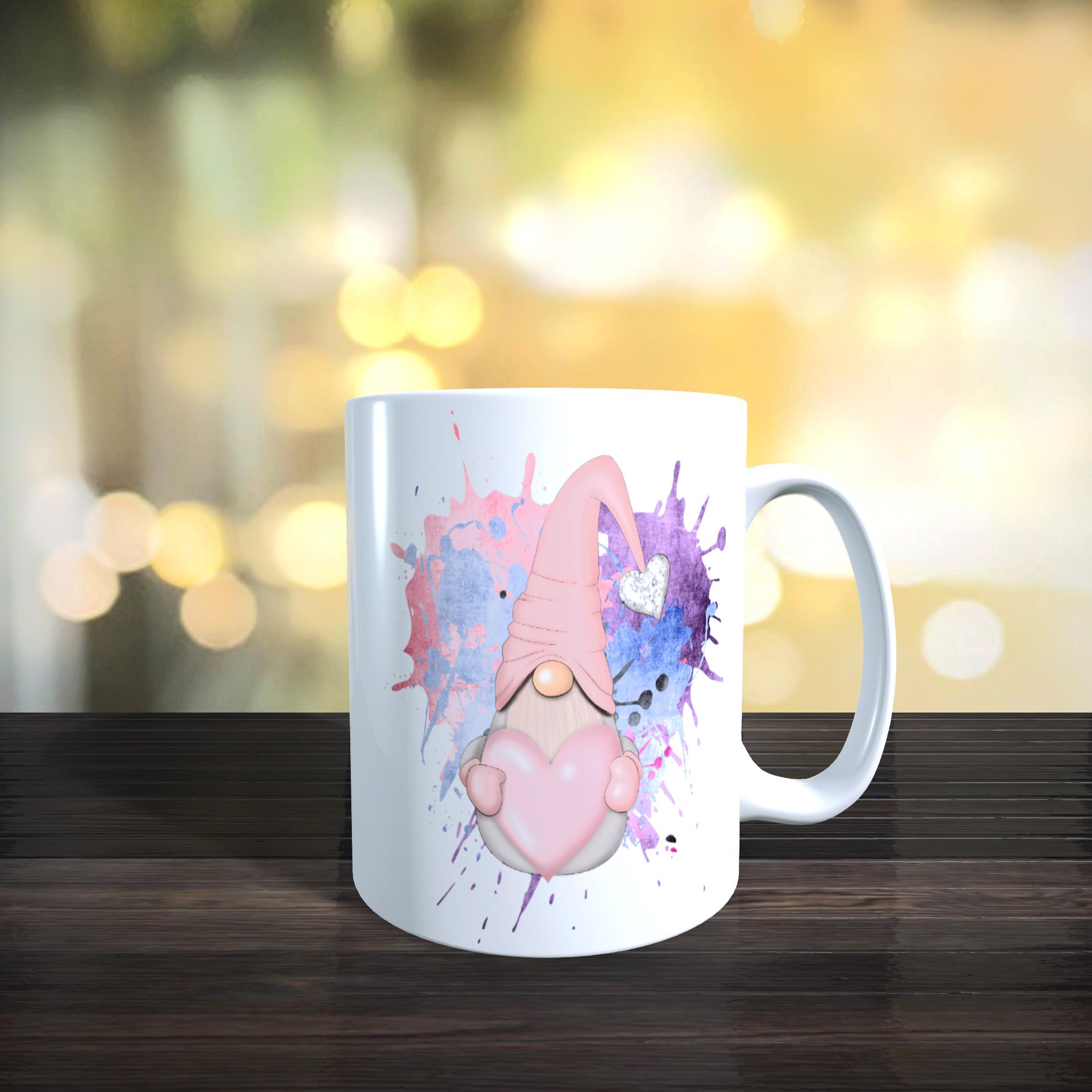 11oz Ceramic Pastel Pink Gnome / Gonk Mug