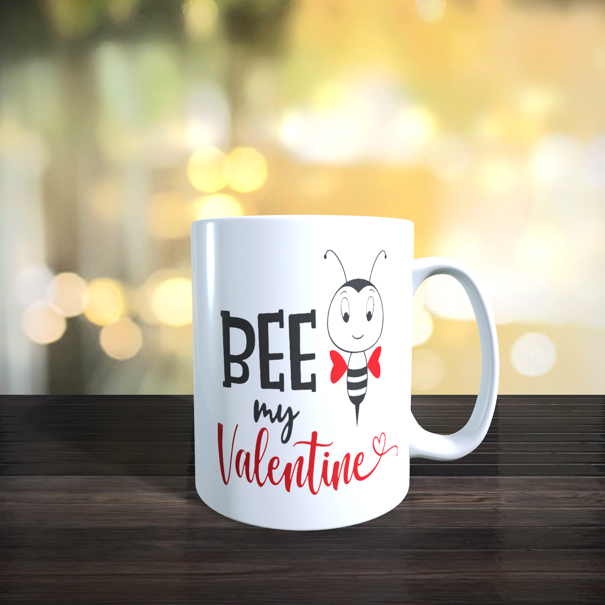 11oz Ceramic Bee My Valentine Mug