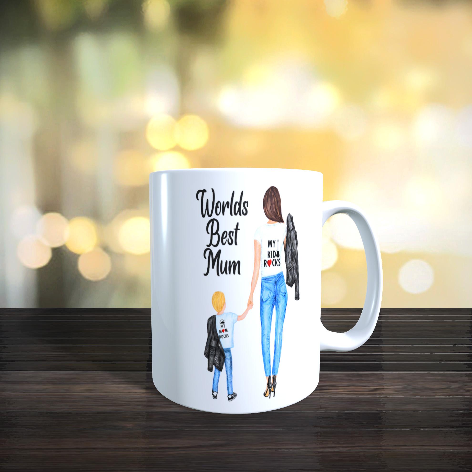11oz Ceramic Mothers Day / Birthday Mug. Worlds Best Mum