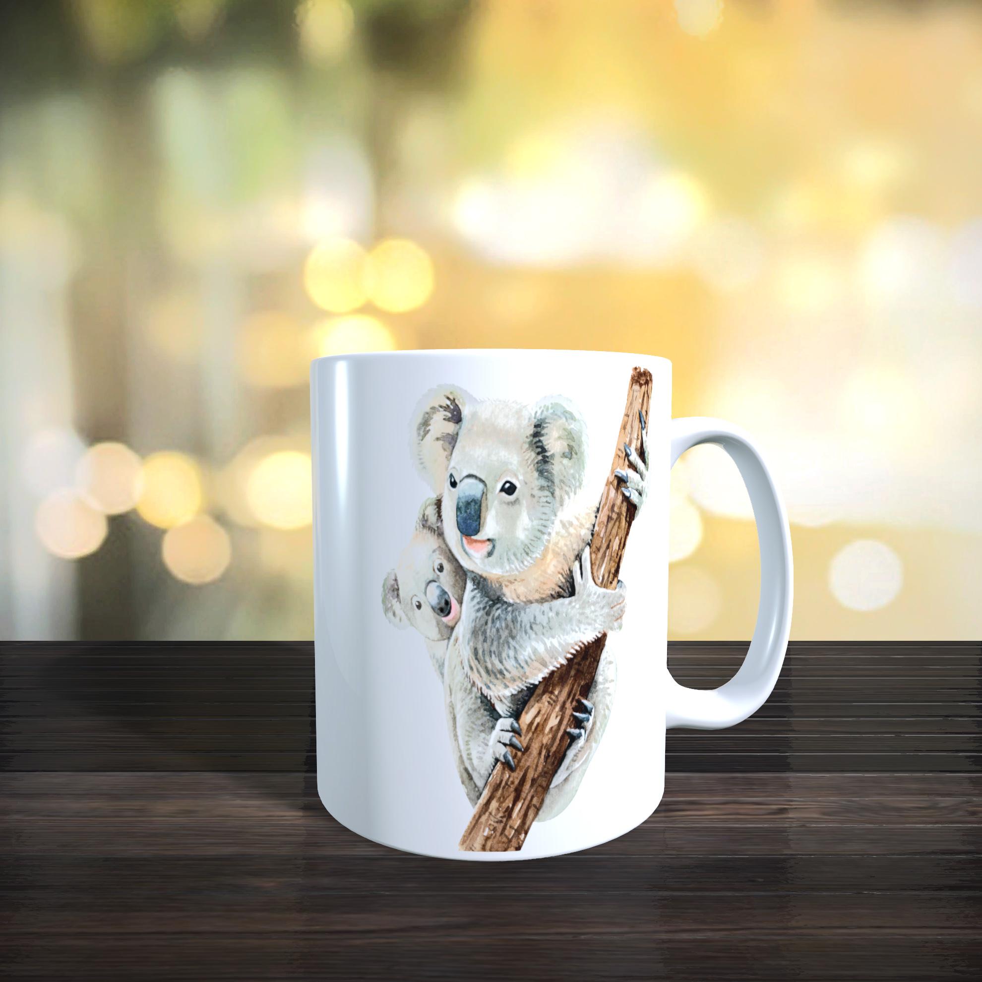 Cute Mother and Baby Koala 11oz Ceramic Mothers Day / Birthday Gift Mug.