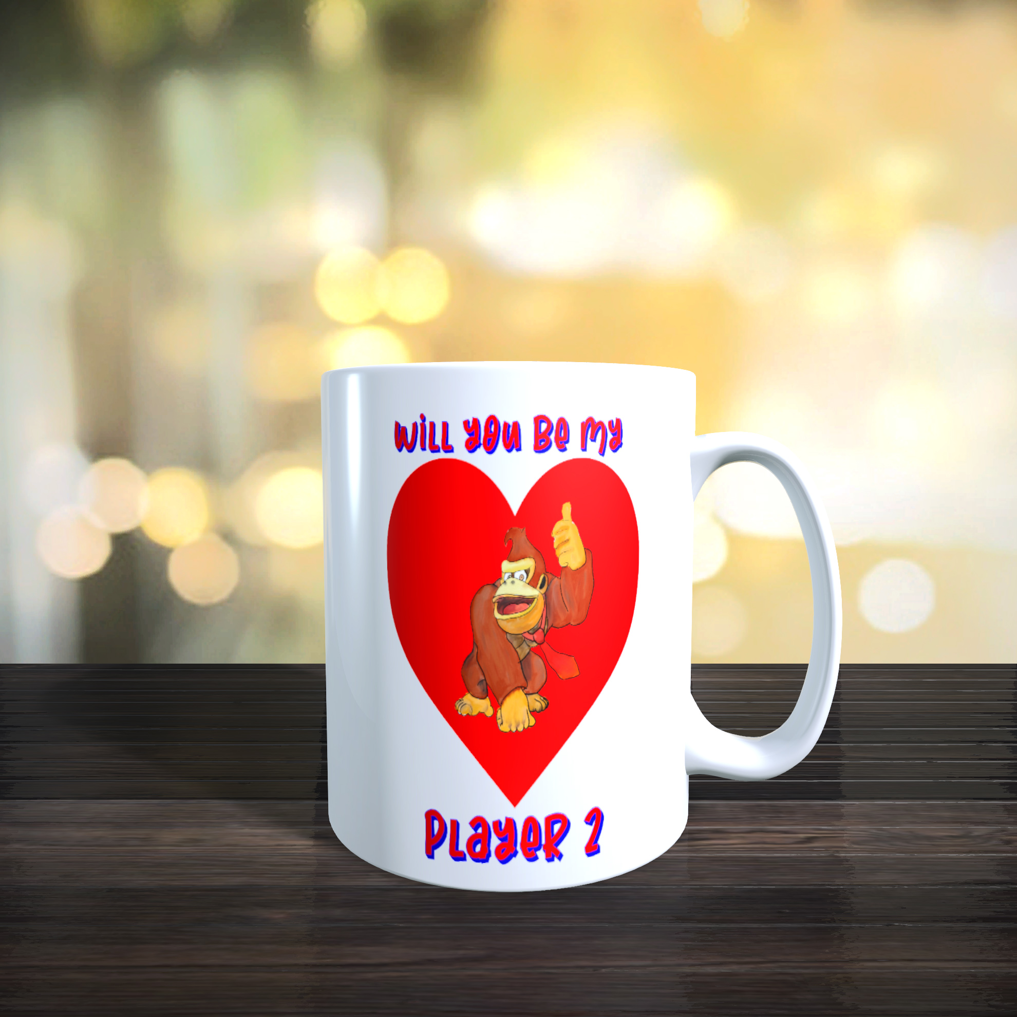 Donkey Kong 'Will You Be My Player 2' 11oz Ceramic Mug