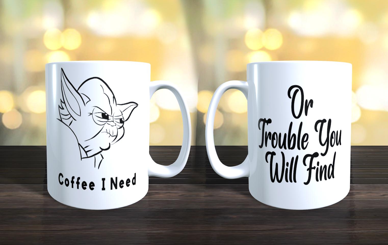 Humourous Yoda Coffee Mug