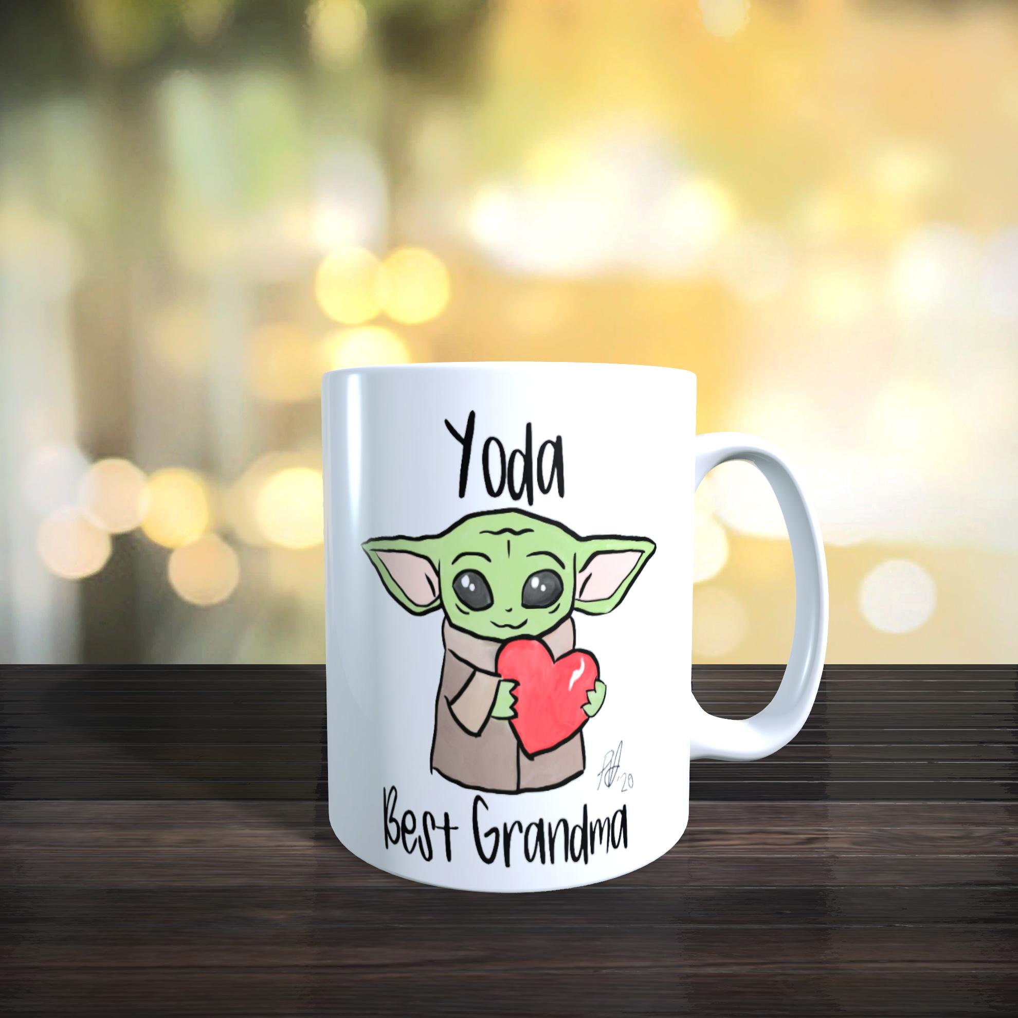 11 oz Ceramic Mug 'Yoda Best Grandma' Mothers day, Birthday Gift
