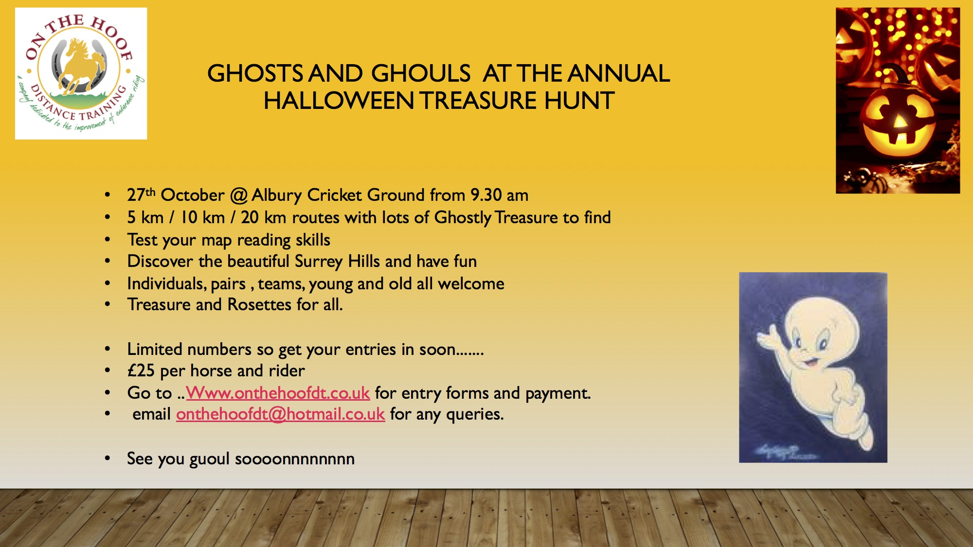 Halloween Treasure Hunt 27th October