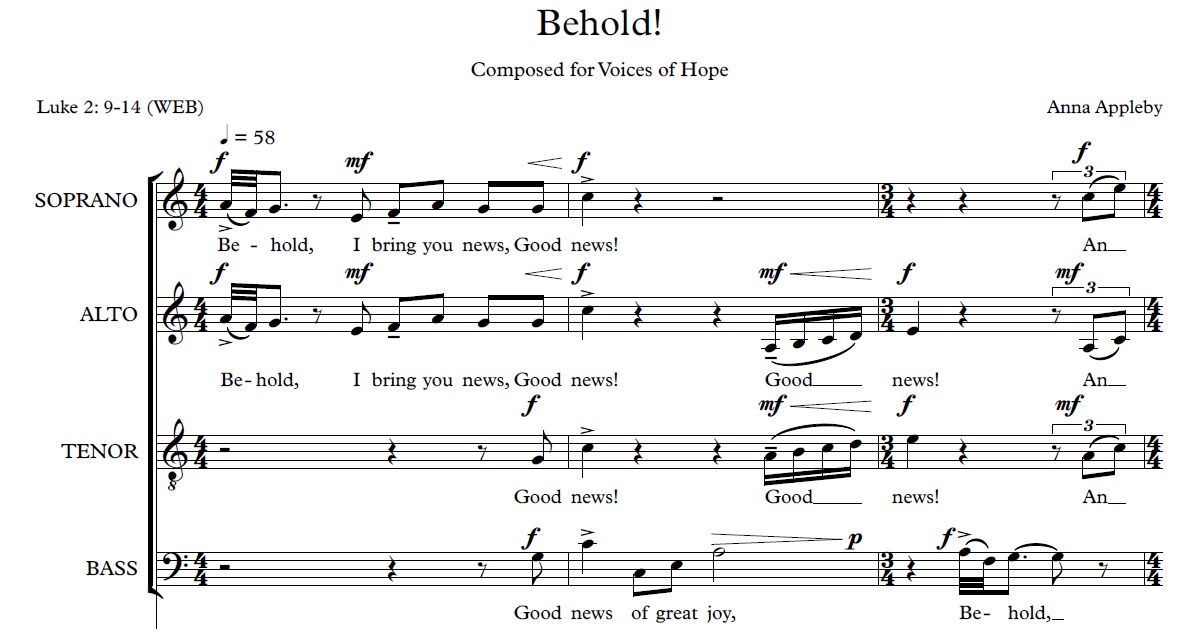 Behold! (SATB choir and organ/piano)