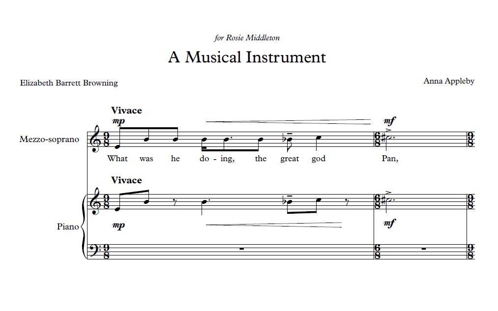 A Musical Instrument (for Mezzo-soprano and Piano)
