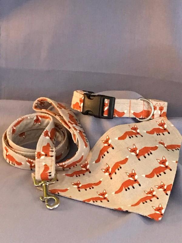 Handmade Collar, Lead & Bandana