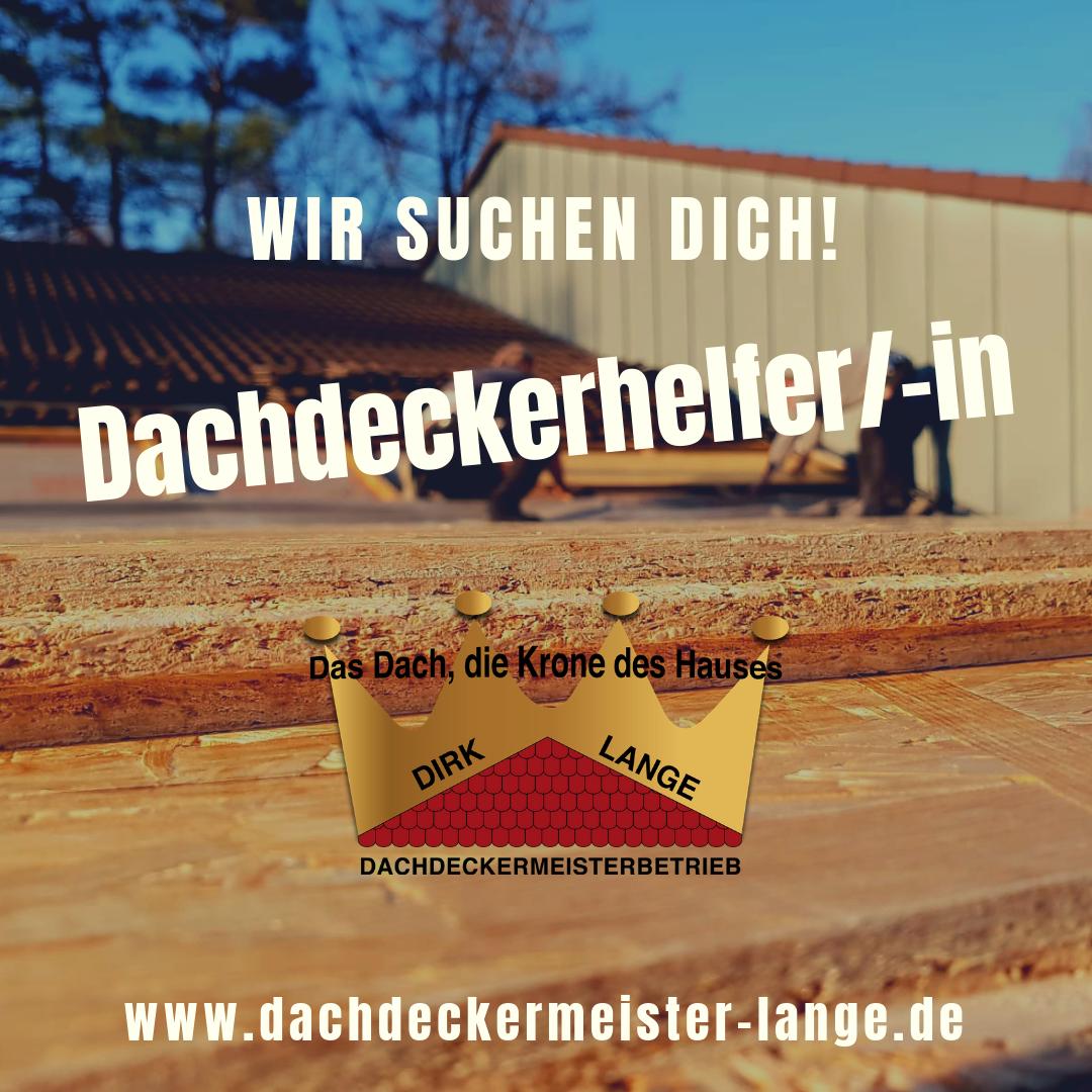 Stellenangebot für Dachdeckerhelfer