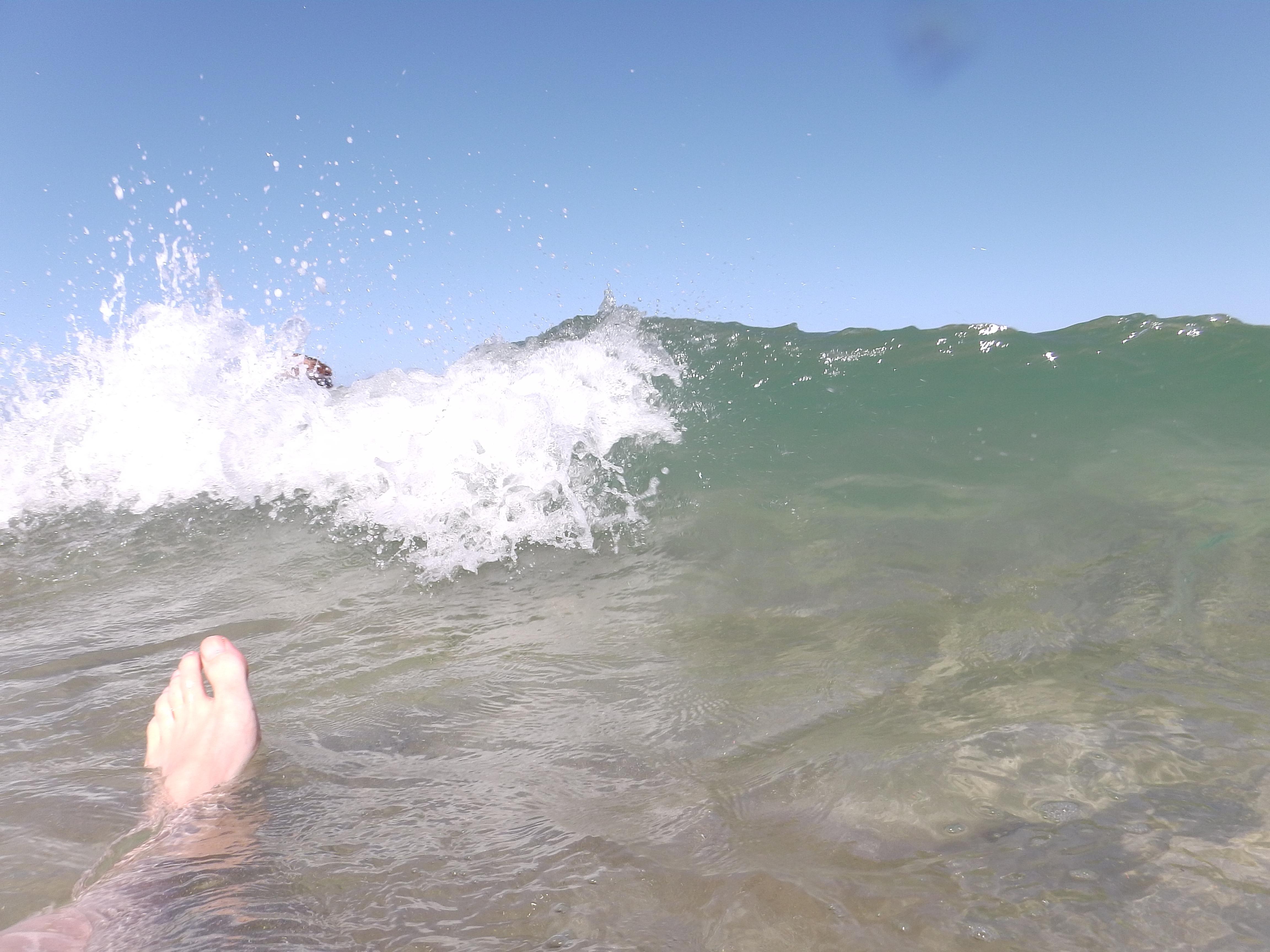 anrollende Welle