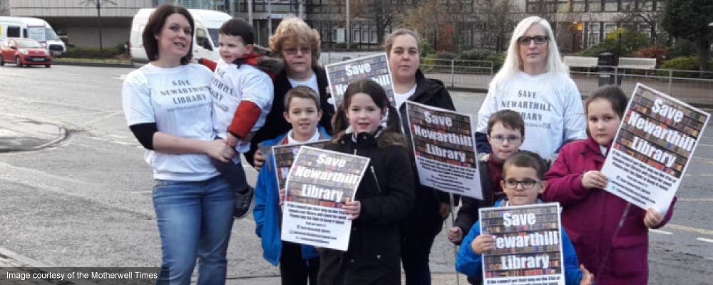 Save Newarthill Library campaigners