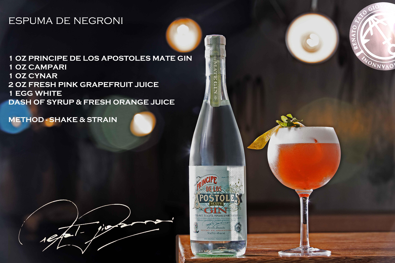 Espuma de Negroni - Apóstoles-Cocktail