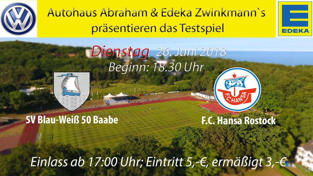 Testspiel Baabe - Hansa Rostock am 26.6.18