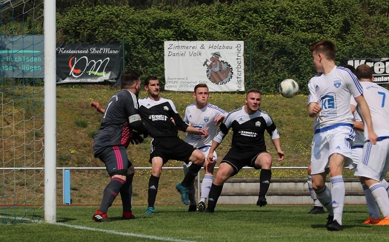 Florian Fründt kurz vor dem 1:0.